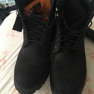 Svart Timberland Støvler Størrelse 10,5